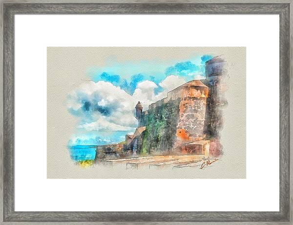 El Morro Castle.. Framed Print