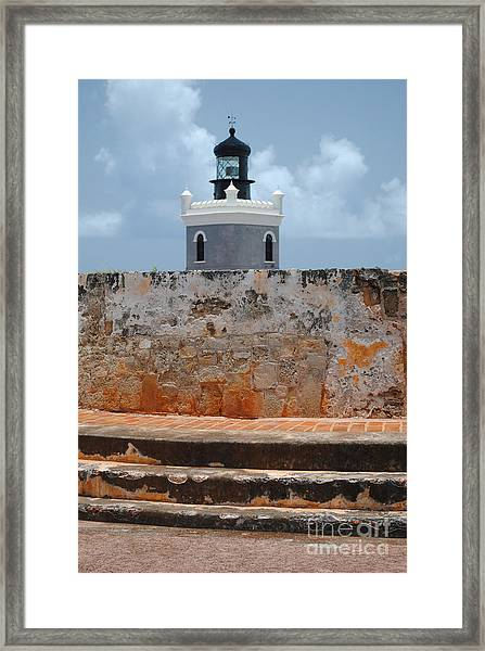 El Morro Light Tower Framed Print