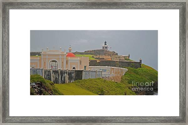 Scenic El Morro Framed Print