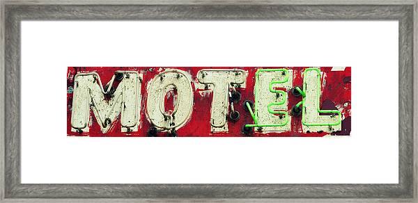 El Motel Framed Print