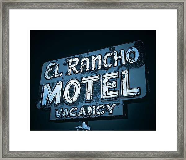 El Rancho Motel Framed Print
