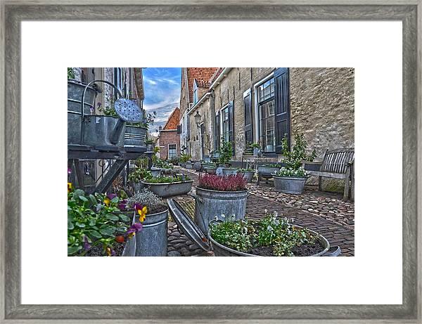 Elburg Alley Framed Print