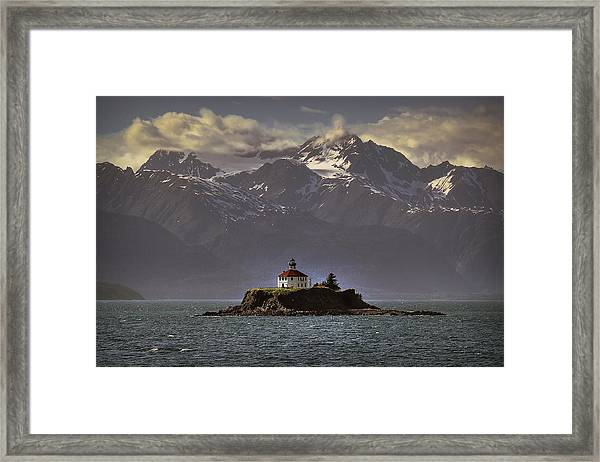 Eldred Rock Lighthouse Alaska Framed Print