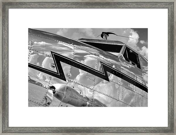 Electra Reflections In Black And White Framed Print