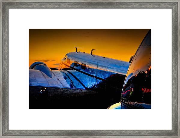 Electra Sunset Framed Print
