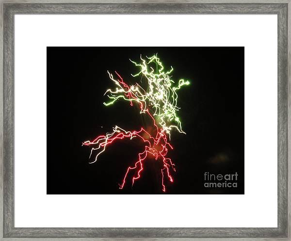 Electric City Fireworks 2013 Xvi Framed Print by Daniel Henning