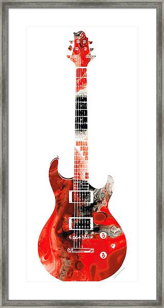 Electric Guitar - Buy Colorful Abstract Musical Instrument Framed Print