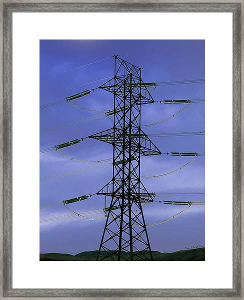 Electric Moment Framed Print