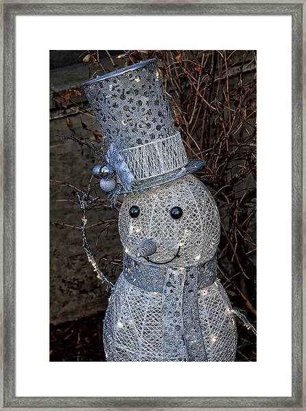 Electric Snowman Framed Print