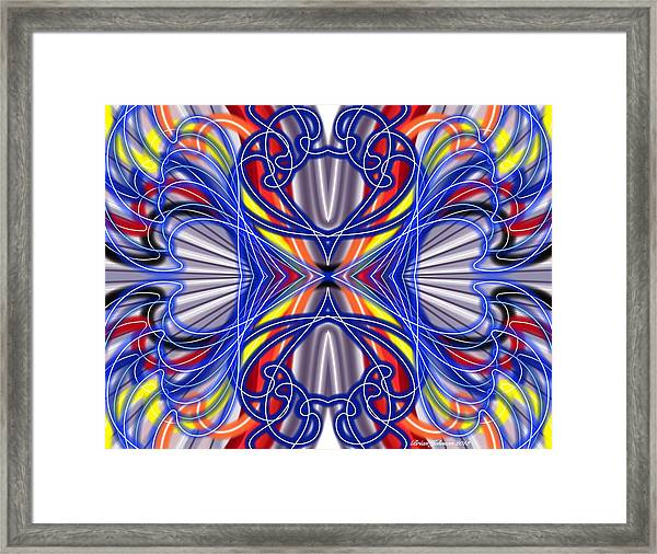 Electric Wave Framed Print