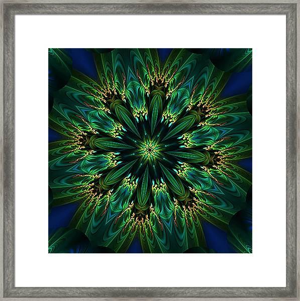 Elegance Green Kaleidoscope Framed Print