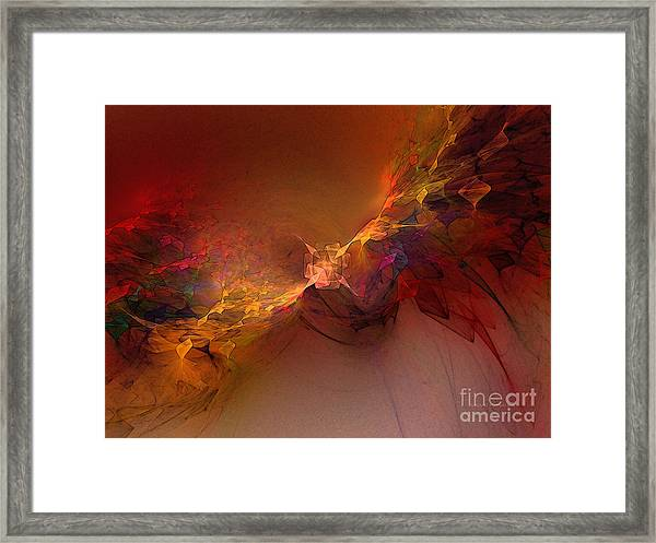 Elemental Force-abstract Art Framed Print