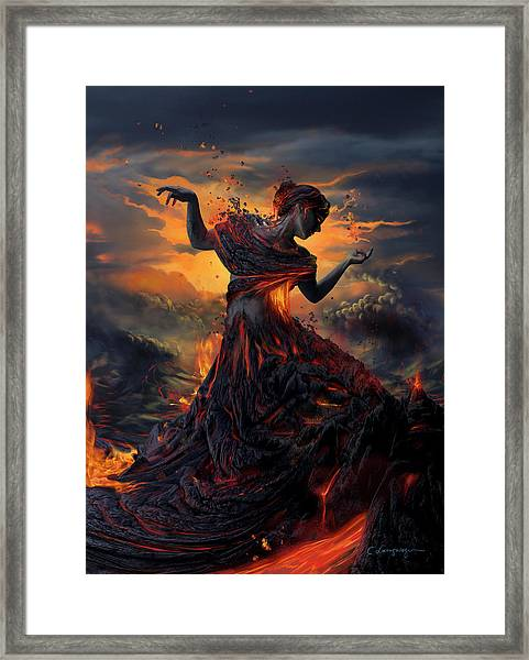 Elements - Fire Framed Print