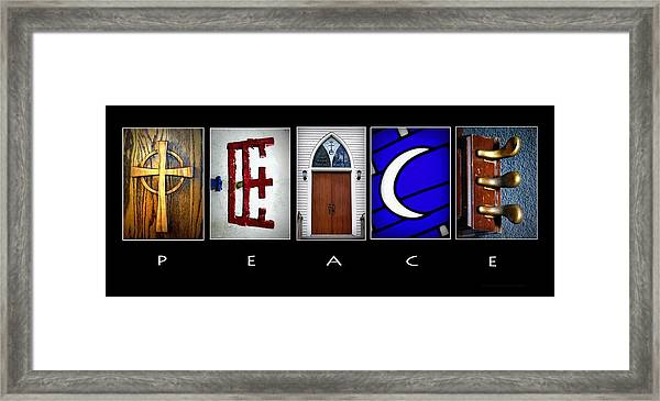 Elements Of Peace Framed Print