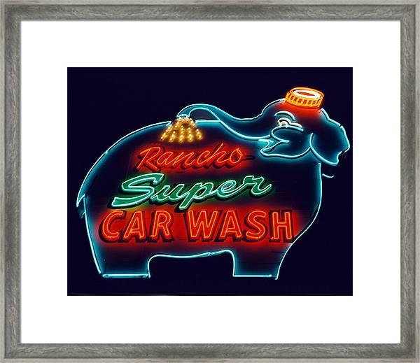 Elephant Car Wash Rancho Mirage California Framed Print