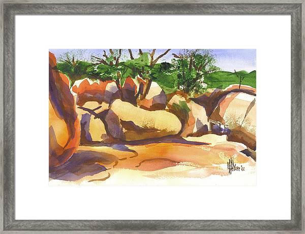 Elephant Rocks Revisited I Framed Print