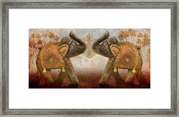 Elephants I Framed Print