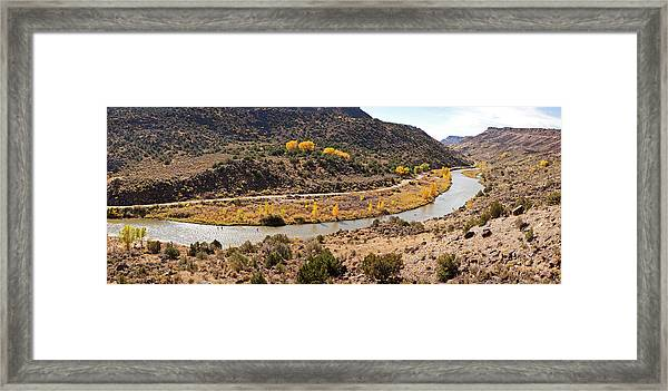 Elevated View Of Three Men Fishing Framed Print
