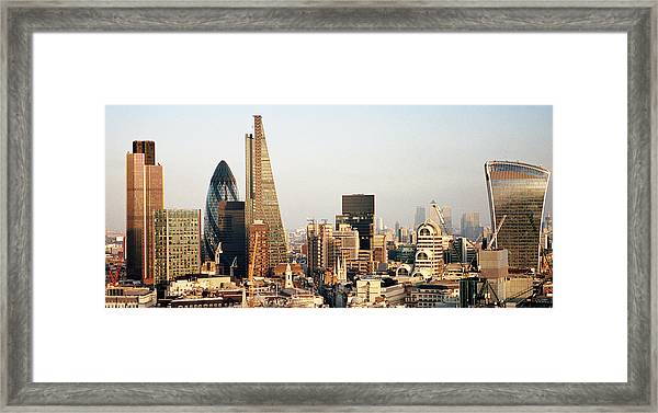 Elevated View Over London City Skyline Framed Print by Gary Yeowell