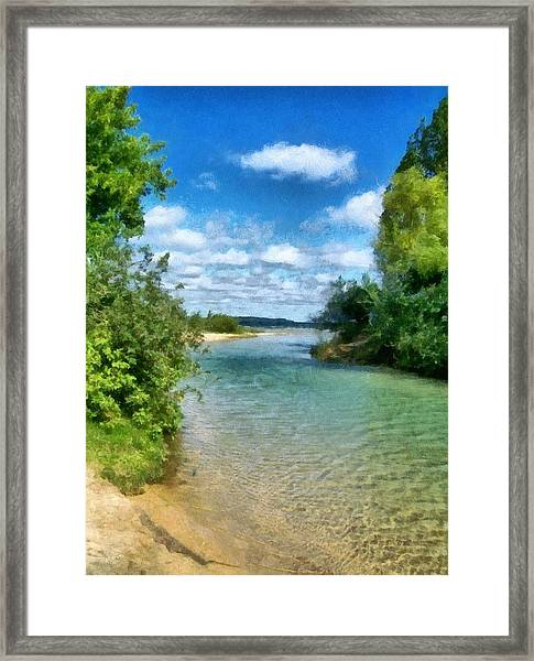 Elk River- Elk Rapids Michigan Framed Print