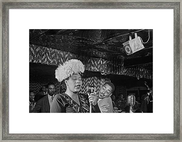 Ella Fitzgerald And Dizzy Gillespie William Gottleib Photo Unknown Location September 1947-2014. Framed Print