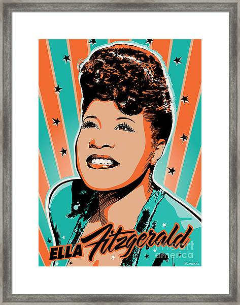 Ella Fitzgerald Pop Art Framed Print
