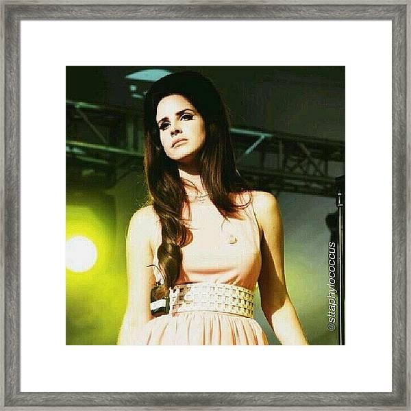 ella. #lanadelrey #teamlama #singer Framed Print