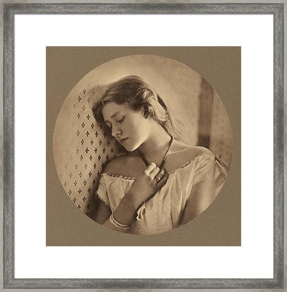Ellen Terry At Age Sixteen Julia Margaret Cameron Framed Print