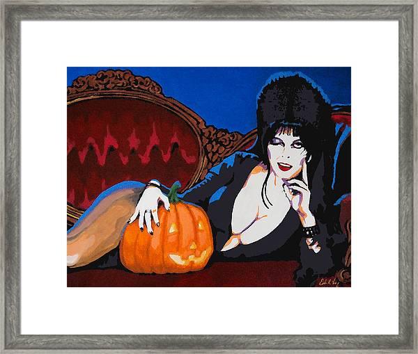 Elvira Dark Mistress Framed Print