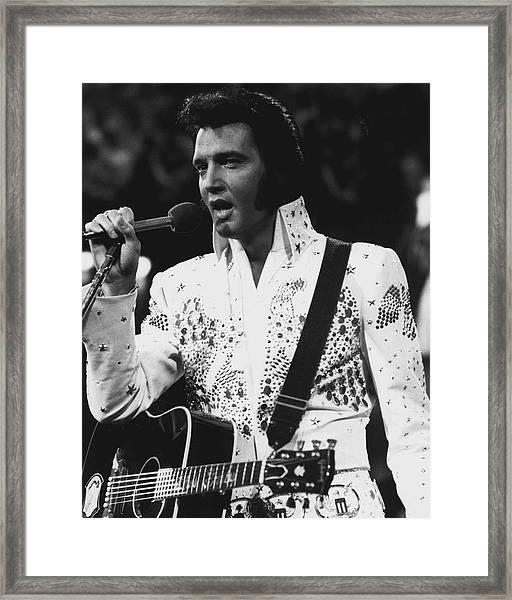Elvis Presley Singing Framed Print