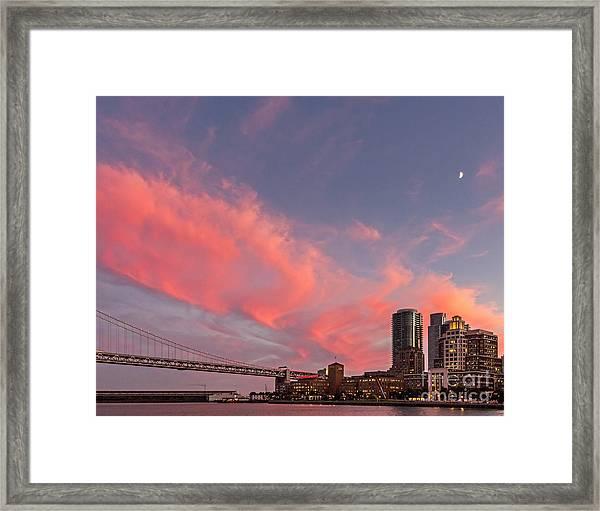 Embarcadero Sunset Framed Print