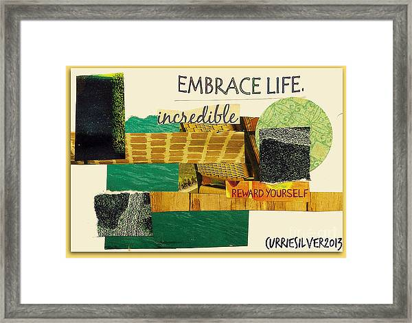 Embrace Framed Print by Currie Silver