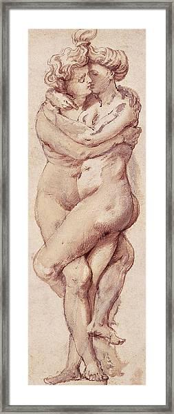 Embracing Couple Framed Print