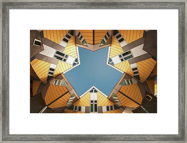 Embracing The  Blue Sky Framed Print by Gerard Jonkman