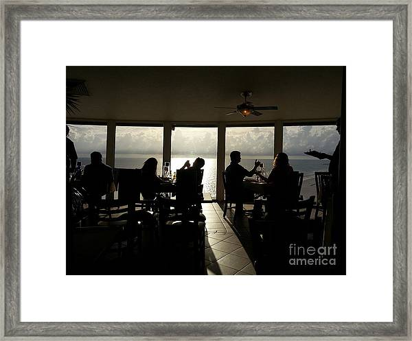 Embracing The Evening Framed Print