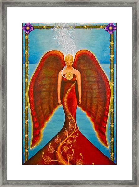 Emeliah Angel Of Inner Journeys Framed Print