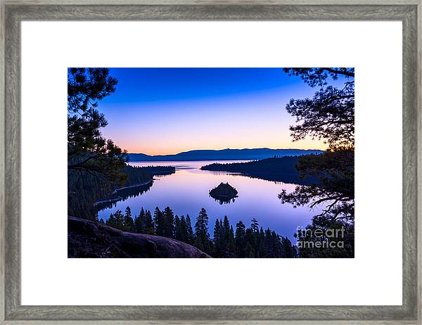Emerald Bay Sunrise Framed Print