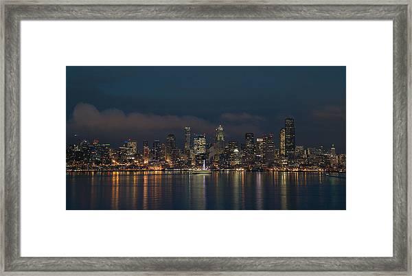 Emerald City At Night Framed Print