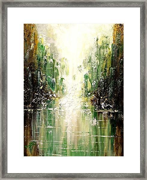 Emerald City Falls Framed Print