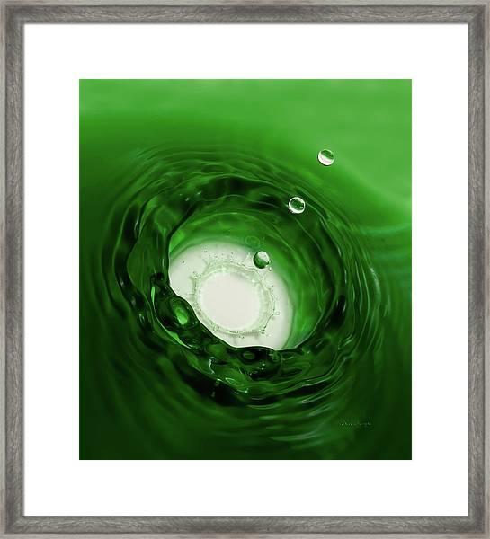 Emerald Drops Framed Print