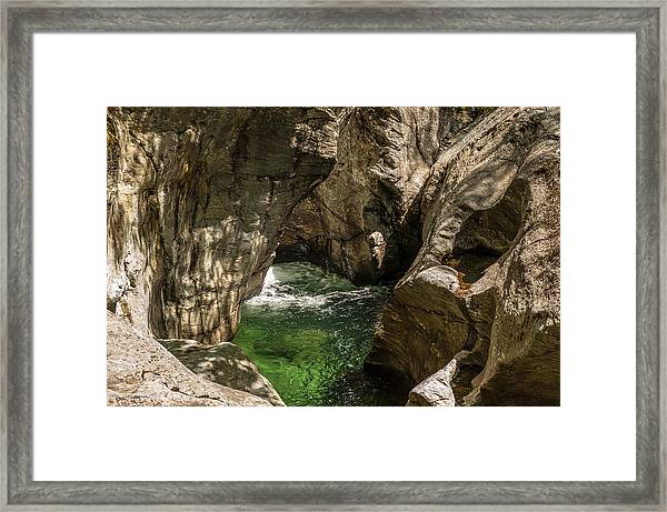 Emerald Gorge Framed Print