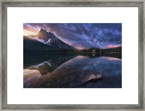 Emerald Light. Framed Print