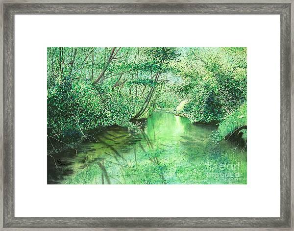 Emerald Stream Framed Print