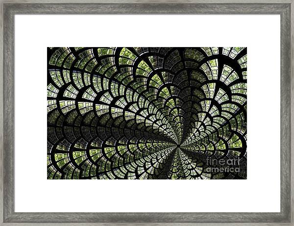 Emerald Whirl. Framed Print