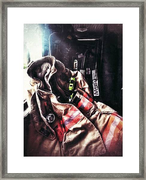 Emergency Standby Framed Print