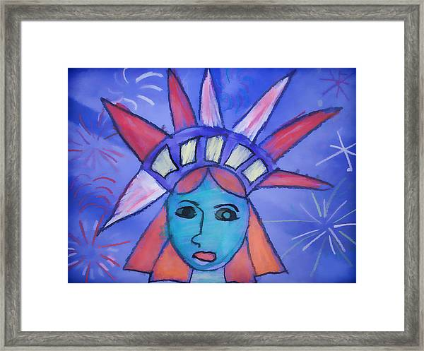 Emma's Lady Liberty Framed Print