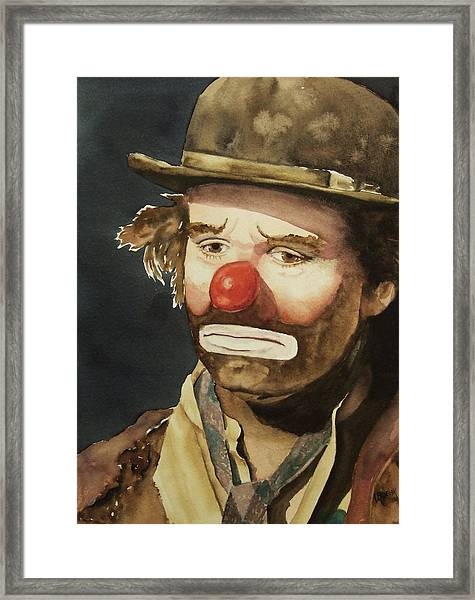 Emmett Kelly Framed Print