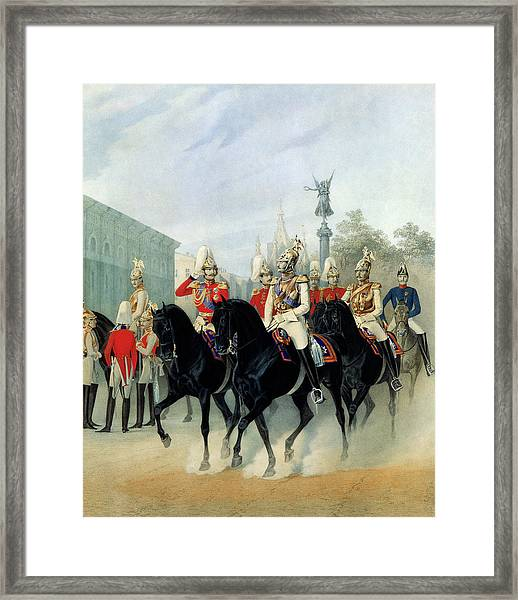 Emperor Nicholas I And Grand Duke Alexander In St Petersburg Framed Print