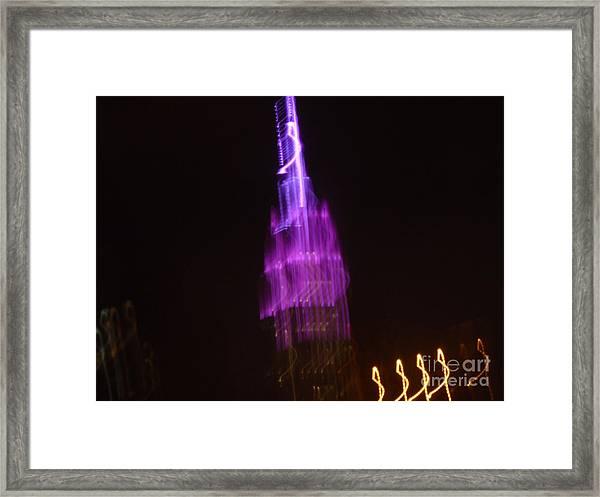 Empire Light Blur Framed Print