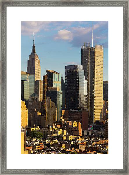 Empire State Building And Midtown Framed Print